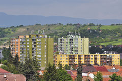 Housing estate in east europe Royalty Free Stock Photos