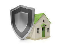 Housing Estate. Home insurance protection, Royalty Free Stock Image