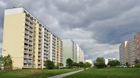 Housing estate in Lodz - Retkinia Stock Photography