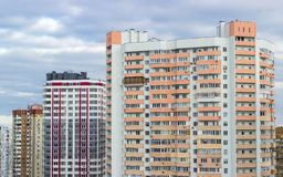Housing estate with modern multi-storey apartment buildings Royalty Free Stock Image