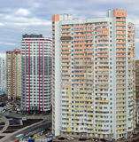 Housing estate with modern multi-storey apartment buildings Royalty Free Stock Photo