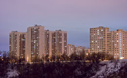 Housing estate night Stock Image