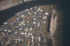 Housing Estate rooftops. Aerial view of a housing estate in Queensland showing colorful roof tops Stock Photography