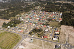 Housing Estate rooftops. Aerial view of a housing estate in Queensland showing colorful roof tops Royalty Free Stock Photo
