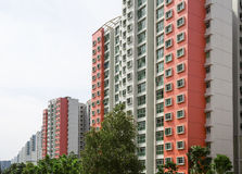 Housing Estate. A row of red color housing apartment Royalty Free Stock Photos