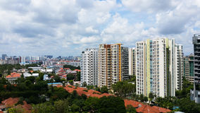 Housing Estate, Singapore. This is one of Singapore`s private housing estate stock photography