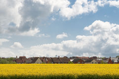 Housing estate in Suffolk UK Royalty Free Stock Photos