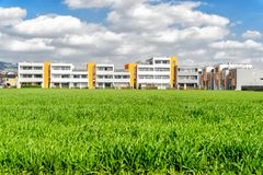 Housing estate in a summer setting. Stock Images