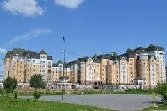 Housing estate to Tyumen. Housing estate Lake arcades to Tyumen Stock Photos