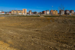 Housing estate under construction Royalty Free Stock Photos