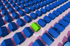 Housing Estate With Spot Light Royalty Free Stock Photos