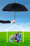 Housing and family insurance concept Stock Images