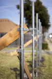 Housing - Fence Under Construction Stock Image