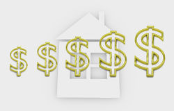 Housing finance - conceptual illustration with dollar symbols Stock Photo