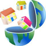 Housing globe Stock Photography