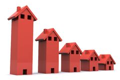Housing Graph Royalty Free Stock Photography