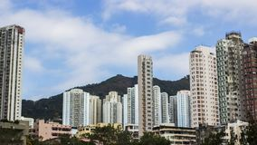 Housing in Hongkong living in high rise building stock images