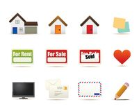 Housing icons illustration Royalty Free Stock Photos