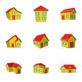 Housing icons set, cartoon style. Housing icons set. Cartoon illustration of 9 housing icons for web vector illustration