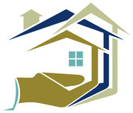Housing. Illustrated housing logo design with isolated background Stock Photos