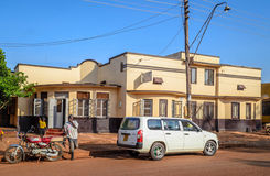 Housing. Jinja, Uganda -September 2015 - A building that used to be owned by Indian settlers before they were expelled from the country by president Iddi Amin in Royalty Free Stock Photos