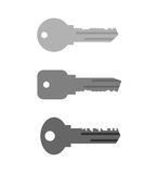Housing key set. Simple key from  keyhole in door of house and a Royalty Free Stock Image