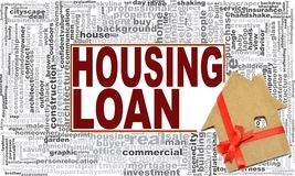 Housing loan word cloud. Creative illustration of idea word lettering typography . 3D rendering royalty free illustration