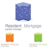 Housing Logo Royalty Free Stock Photography
