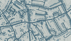 Housing map. Editable illustrated map of housing in a generic town royalty free illustration