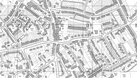 Housing map royalty free stock image