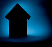 Housing Market Background. A moody mysterious background for the unknown future of the housing market Stock Photo