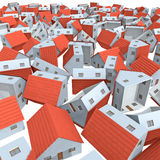 Housing market collapse. 3d background Stock Photos