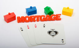 Housing Market Gamble Stock Photos
