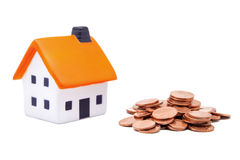Housing and money Royalty Free Stock Images