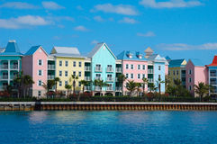 Housing in Nassau. Condos on the harbour, Nassau Bahamas Stock Image