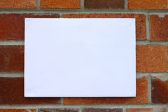 Housing Notice. Blank flyer awaiting message for housing related information stock photos