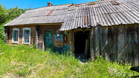 Housing of ordinary people in the Russian village. Royalty Free Stock Photography