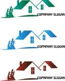 Housing plan. Logo in three colours stock illustration