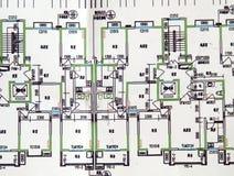Housing plane drawings Royalty Free Stock Photos