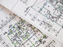 Housing plane drawings Stock Image