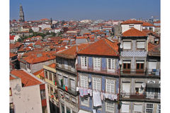The Housing of Porto - Portugal. The colors of the housing of the city of Porto in Portugal Stock Photo