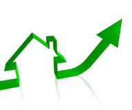 Housing price go up Royalty Free Stock Photos