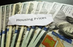 Housing prices Stock Image
