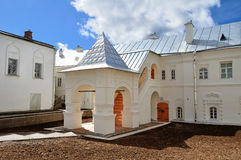 The housing of prior of Saint Anthony monastery in Veliky Novgorod, Russia. The housing of prior (after restoration) of Saint Anthony monastery in Veliky Royalty Free Stock Images