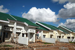 Housing project. Photograph of building green housing project Royalty Free Stock Image