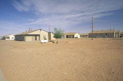 Housing project on Navajo. Indian Reservation in Shiprock, NM Royalty Free Stock Photo