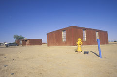 Housing project on Navajo Indian Reservation Stock Image