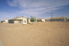 Housing project on Navajo Indian Reservation in Shiprock, NM Royalty Free Stock Photography