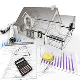 Housing project process Stock Photography