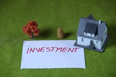 Investment in Real estate. Housing and real estate industry messages Royalty Free Stock Photography